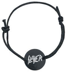 Slayer Waxcord Black Logo Bracelet