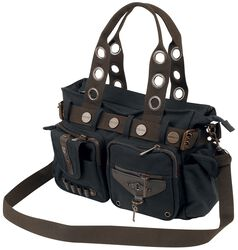 Black Brown Key Bag