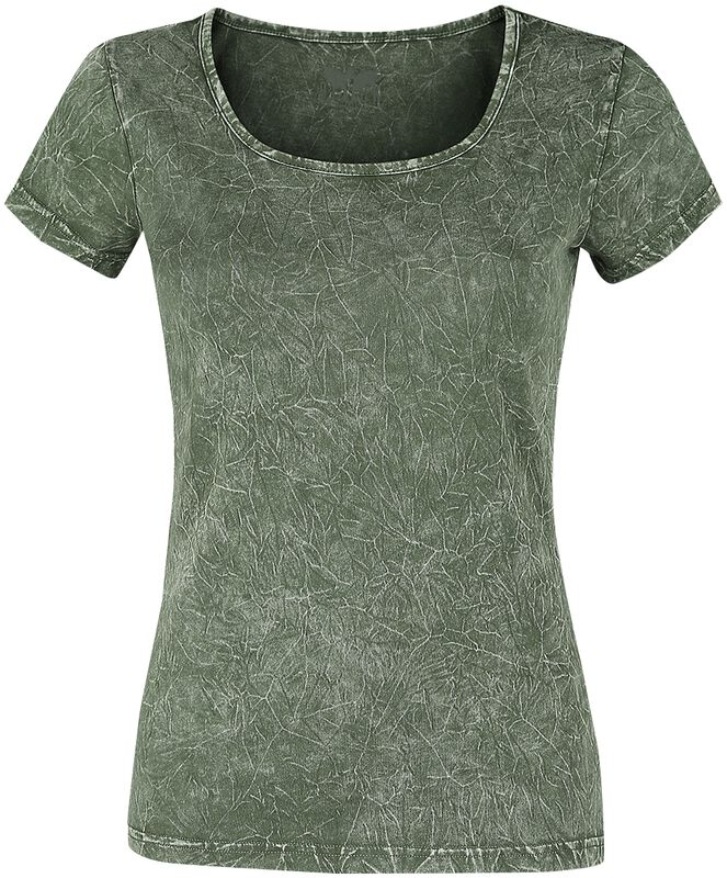 Vihreä T-paita ryppypesulla
