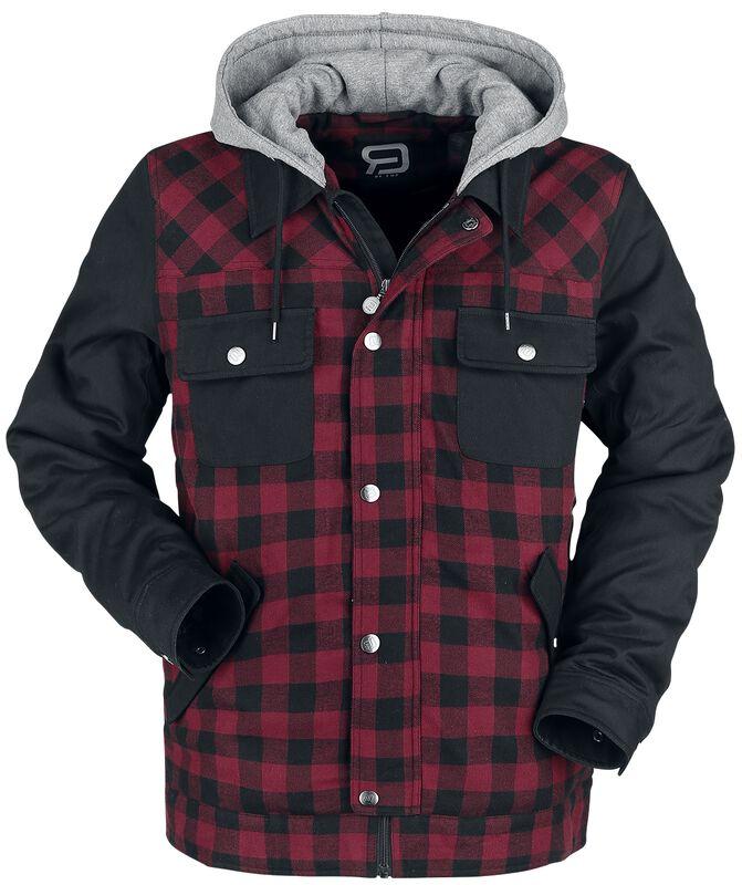 Musta/punainen metsurin takki mustilla hihoilla