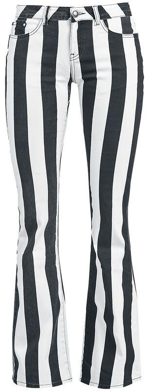 Grace - Musta/valkoinen raidalliset housut