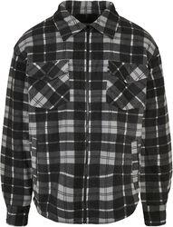 Plaid Teddy Lined Shirt Jacket välikausitakki