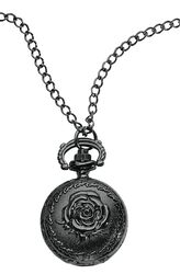 Black Rose Pocket Watch