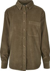 Ladies Corduroy Oversized Shirt kauluspaita