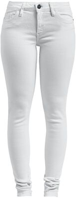 Eve LW PCKT Piping White Jeans