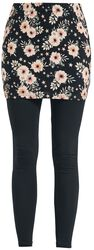 2 in 1: Leggings und Rock mit floralem Muster