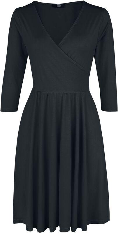 Musta kietaisutyylinen mekko