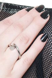 Ring With Nail Design