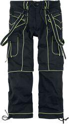 Nick - mustat housut neonvärisillä yksityiskohdilla