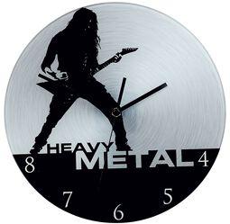 Lasinen Seinäkello Heavy Metal