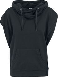 Sleeveless Terry High Neck Hoodie