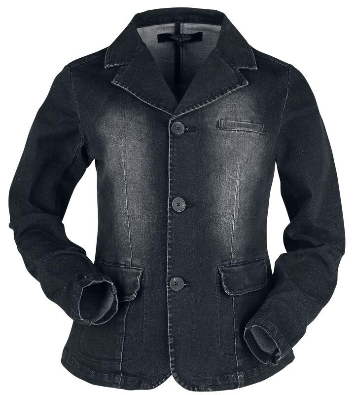 Musta farkkutakki erikoispesulla
