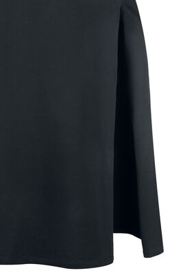 Pitkä Gothicana-mekko korkealla halkiolla