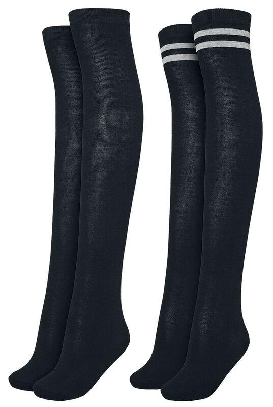Ladies Overknee Socks - 2-kpl setti