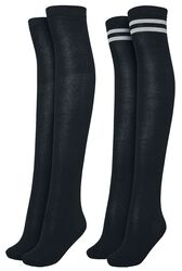 Ladies Overknee Socks - 2-kpl setti