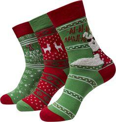 Christmas Lama Socks sukat - 3 kpl setti