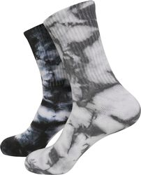 High Socks Tie Dye 2-Pack