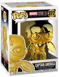 Marvel Studios 10 - Captain America (Chrome) Vinyl Figure 377 (figuuri)
