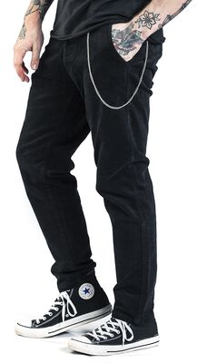 Loose Fit Cropped Corduroy Trousers
