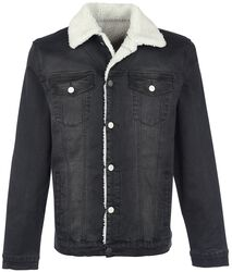 Jeans Jacket with Berber Fleece Lining