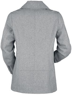 Lyhyt harmaa napitettava takki