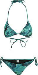 Ladies Triangle Leaf Green Bikini bikinit