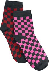 Ruutukuvioiset sukat (2 kpl setti)