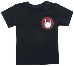 Musta T-paita logolla