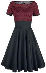 Darlene Retro Polka Dot Swing Dress