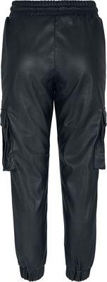 Ladies Faux Leather Cargo Trousers reisitaskuhousut
