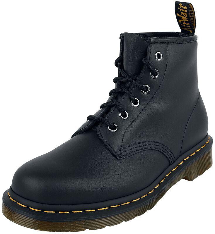 101 Black Nappa 6 Eye Boot maiharit