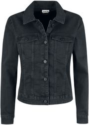 Debra Black Wash Denim Jacket