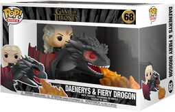 Daenerys and Fiery Drogon POP Rides Vinyl Figure 68 (figuuri)