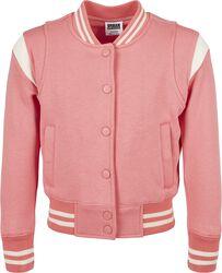 Girls Inset College Sweat Jacket veryttelytakki