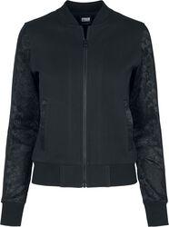 Ladies Lace Bomber Jacket