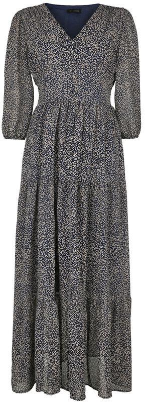 Long Tiered Button Dress
