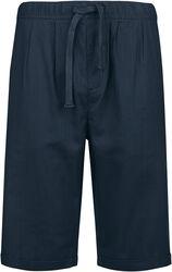 Dunkelblaue Shorts aus leichtem Material