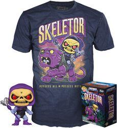 Skeletor - POP!-figuuri & T-paita (Glow in the Dark)