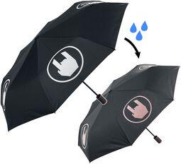 Väriä vaihtava sateenvarjo