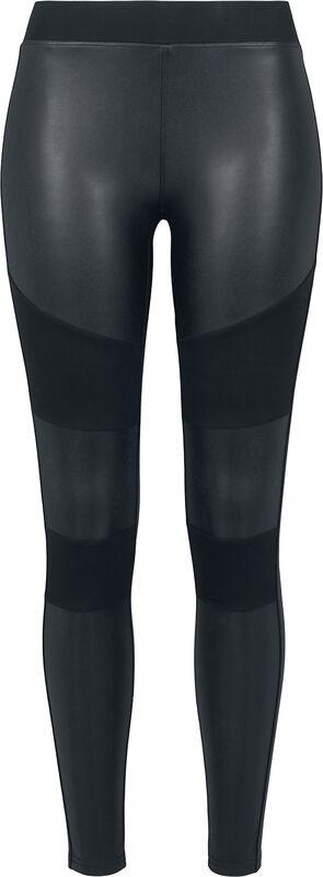 Ladies Fake Leather Tech Leggings leggingsit