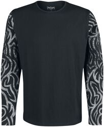 Long-Sleeve Shirt with Ornamented Sleeves