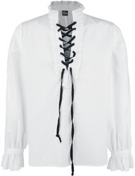 Ruffled Shirt With Lacing