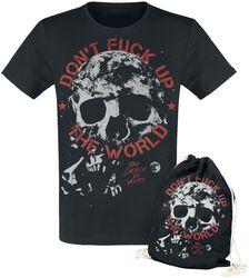 Don't Fuck Up The World - musta T-paita painatuksella