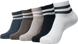 Sporty Half-Cuff Logo Socks sukat (5 kpl setti)