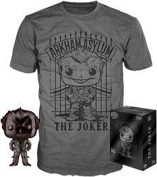 Chrome Joker T-paita plus Funko-figuuri - POP! & Tee