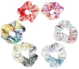 Soft Hair Ties Tie Dye hiusdonitsit (6 kpl setti)