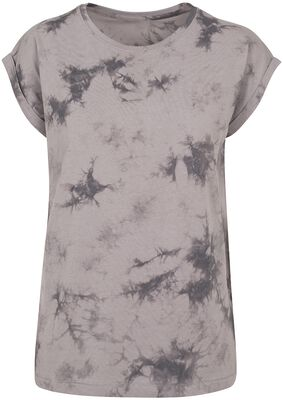 Ladies Batik Dye Extended Shoulder Tee