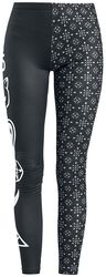 Mustat leggingsit symbolikuvioilla