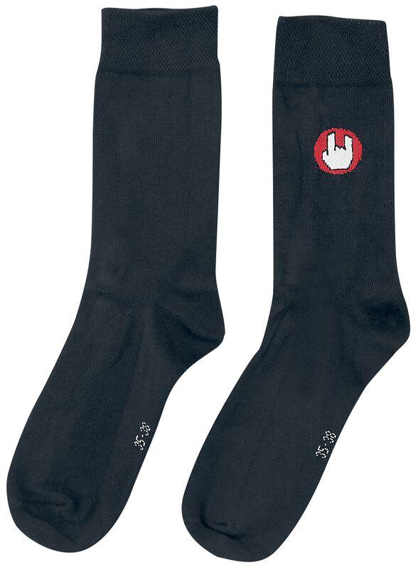 Mustat sukat EMP-logolla