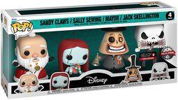 Sandy Claws/Sally Sewing/Mayor/Jack Skellington - figuurit (4 kpl setti)